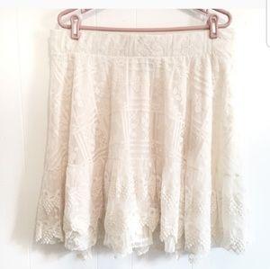 Cream or skirt